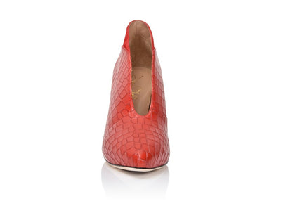Dorsey Red Hot Embossed Croco/Red Hot Suede