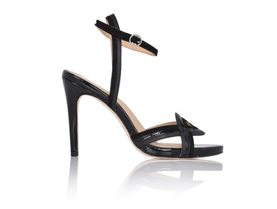 Gala Black Soft Patent/Kid Suede