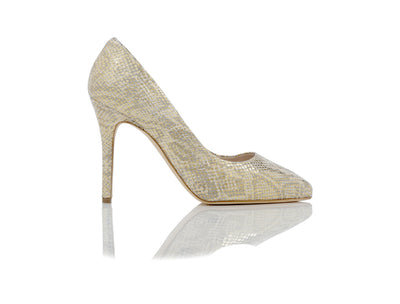 Dana Beige Python Shoes  - Most Comfortable Heels by Joan Oloff