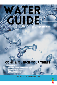 Water Guide + Fruit Infuser Water Bottle - Get Out Your Zone