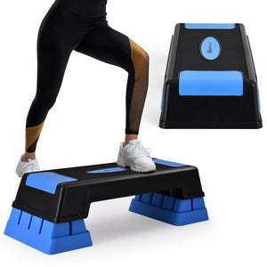 "Aerobic Exercise Stepper Trainer with Adjustable Height 5""- 7""- 9"" - Get Out Your Zone"