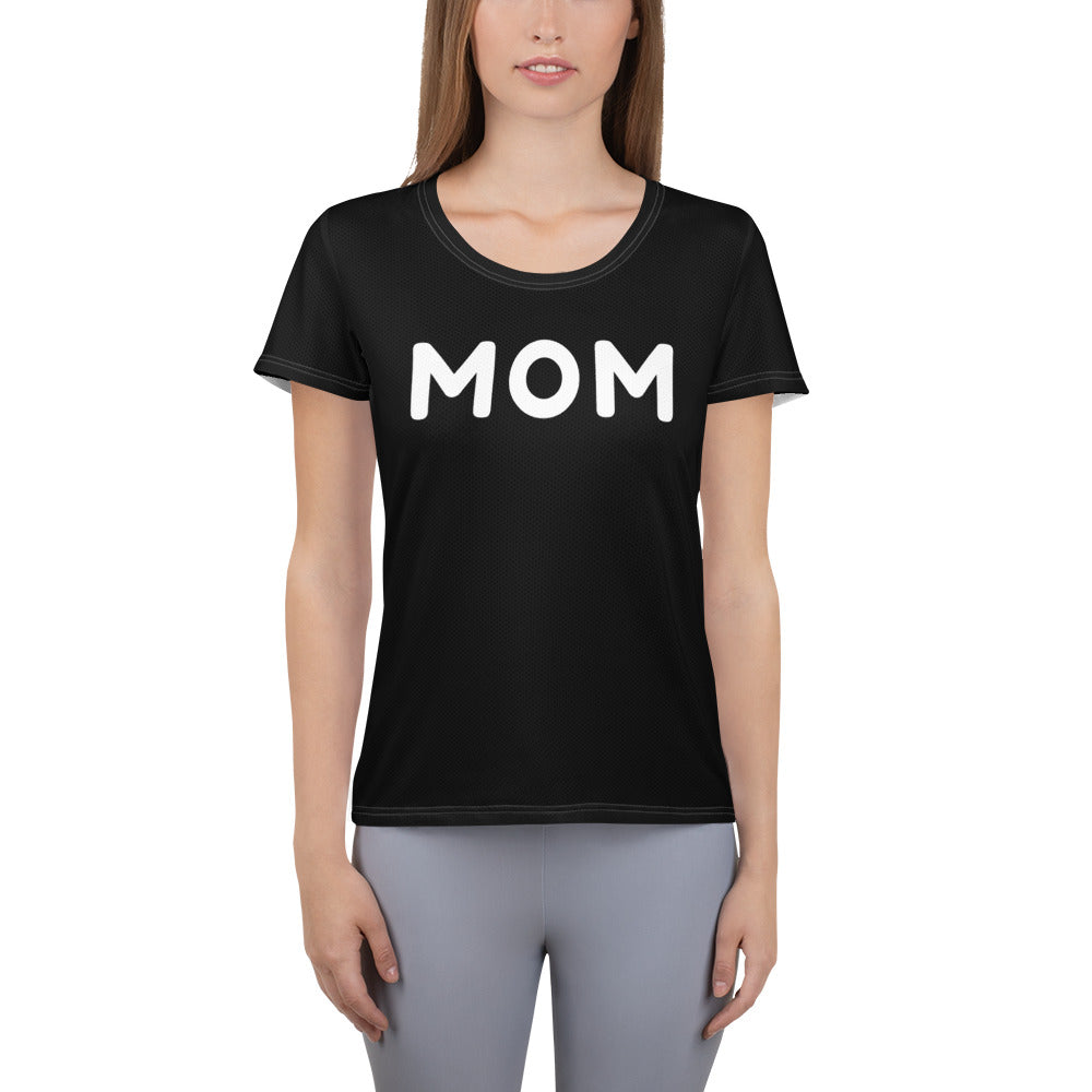 MOM Women's Athletic T-shirt - Get Out Your Zone