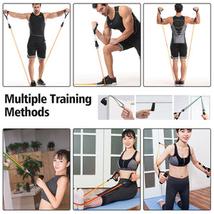 Resistance Band Set - 5-Piece Exercise Bands - Get Out Your Zone