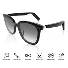 Bluetooth audio sunglasses for hands-free talk and music; for Women. (MODEL B)