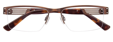 BMW B6031-10 Eyeglasses Men Stainless - Amber/Brown