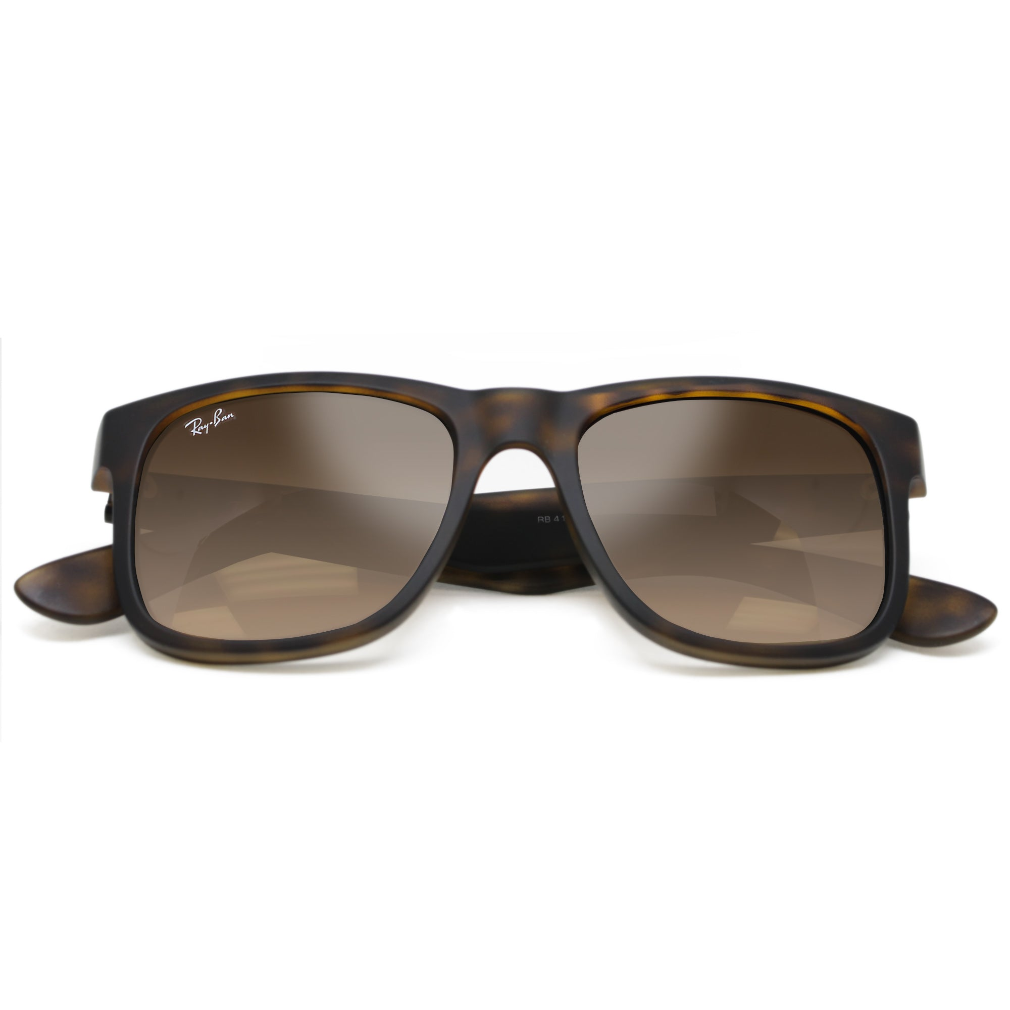 92d108d4a37 ... shop ray ban justin new 4165 unisex tortoise brown gradient 710 13 51  cdea9 ed3cb