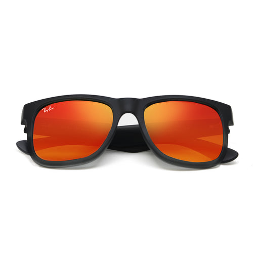 Ray-Ban 4165 JUSTIN CLASSIC UNISEX - BLACK - RED MIRROR 622-6Q-55