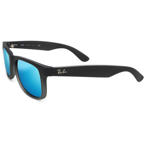 Ray-Ban JUSTIN 4165 CLASSIC UNISEX - BLACK - BLUE MIRROR 622-55-55