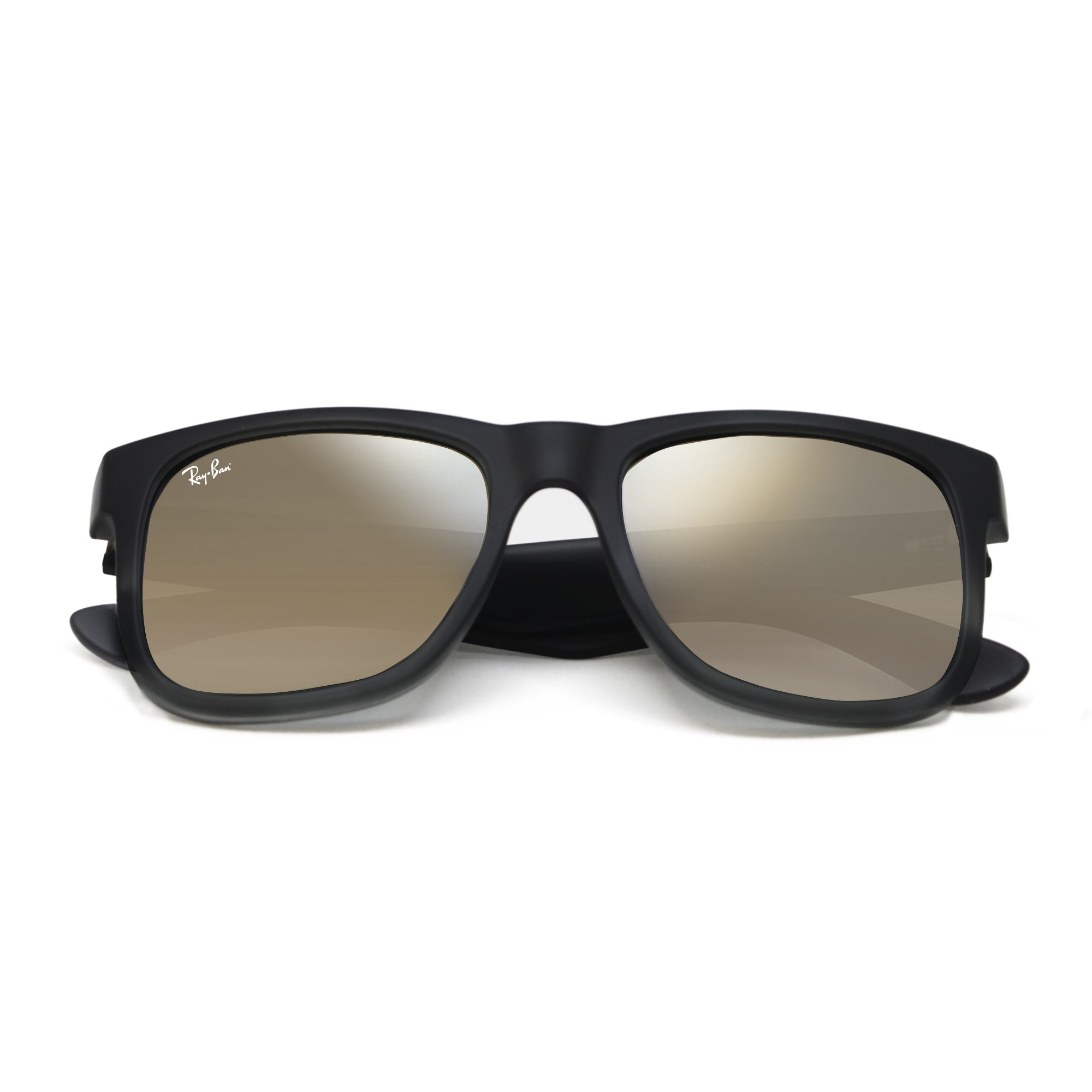 5b245af31a2a Ray-Ban 4165 NEW! JUSTIN UNISEX - BLACK - GOLD MIRROR 622-5A-55 ...