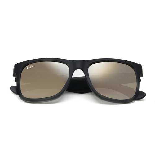 Ray-Ban 4165 NEW! JUSTIN UNISEX - BLACK - GOLD MIRROR 622-5A-55