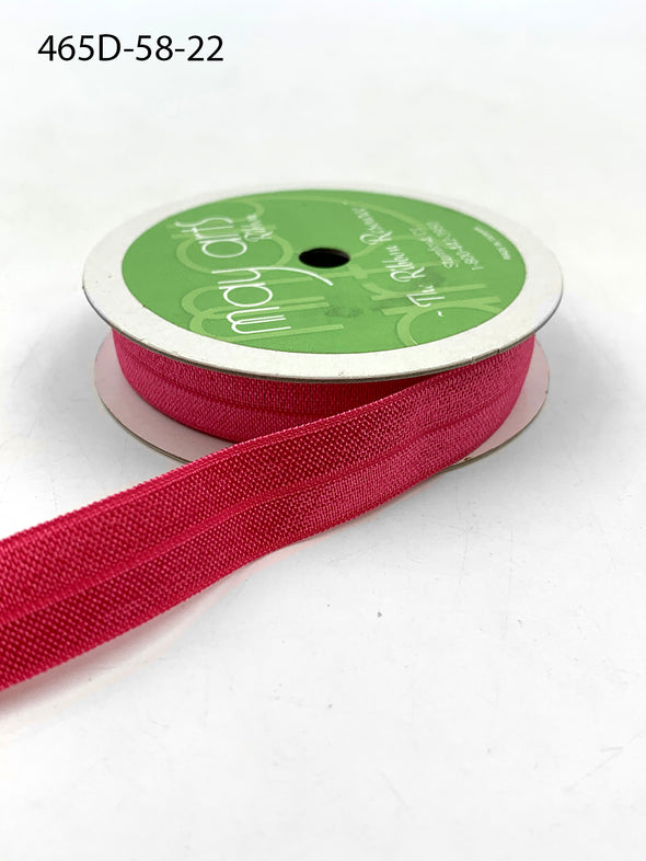"BRIGHT PINK 5/8"" Elastic- 12 ft."