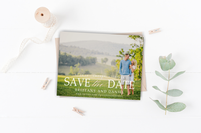 Mountain View Save The Date Magnet