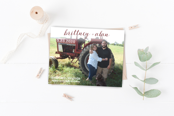 Farm Life Save The Date Magnet