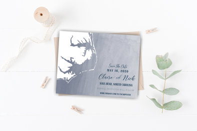 The Shores of NC Save The Date Magnet