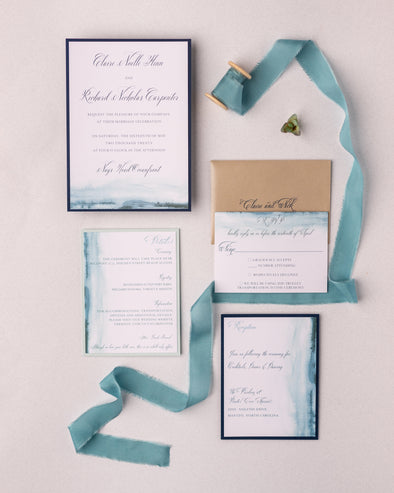 Blue Watercolor Invitation