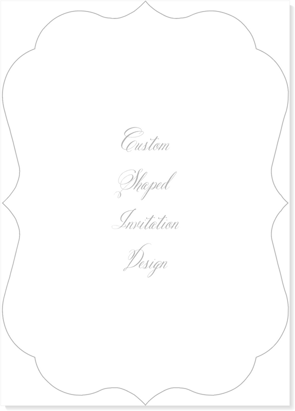 Custom Bracket Shaped Invitation