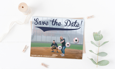 Home Run Save The Date Magnet