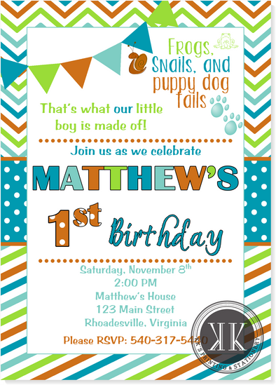 All Boy Birthday Invitation