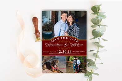Classy Save The Date Magnet