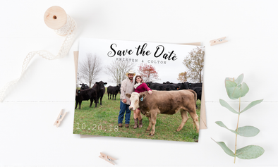 Cow Save The Date Magnet