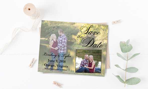 Picture in Picture Save The Date Magnet