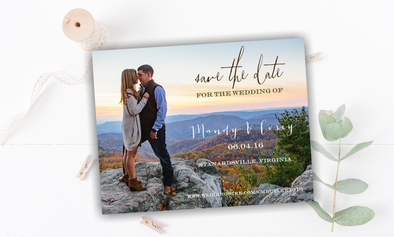 Picturesque Save The Date Magnet