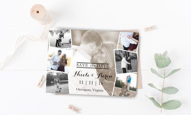 Photo Mix Save The Date Magnet