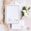 Floral and Rose Gold Glitter Invitation