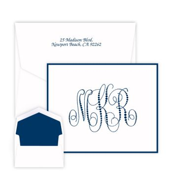 Pearl String Monogram Note