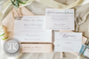 Elegant Blush Coral Layered Band Invitation