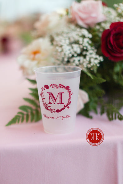 Monogram Translucent Cups