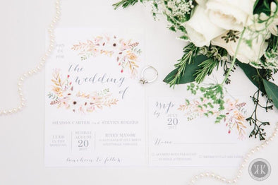 Light Floral Wreath Invitation