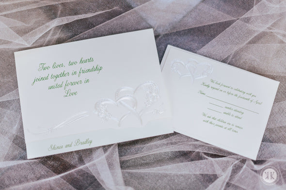 Romantic Hearts Invitation