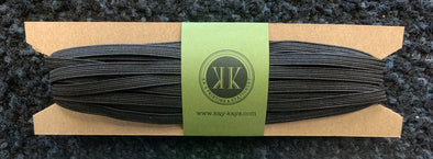 "1/4"" BLACK Elastic- 10 yards"