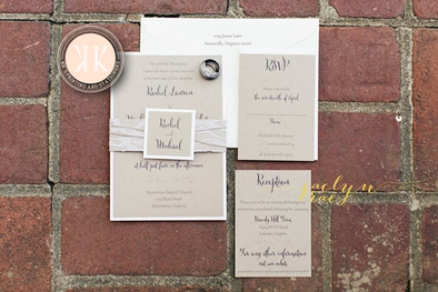 Lace + Twine Wedding Invitation
