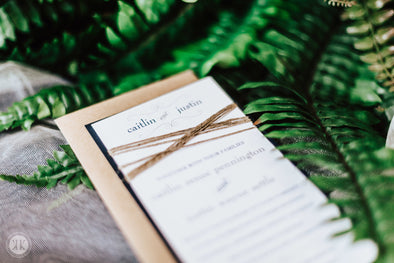Twine Wrapped Invitation