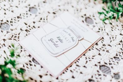Mason Jar Shaped Save the Date