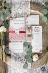 Blush Diecut Wedding Invitation