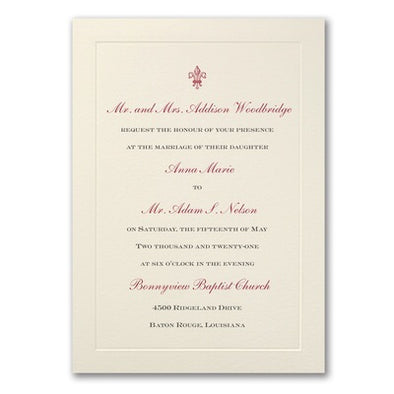 Savvy Wedding Invitation Suite Classic Edge