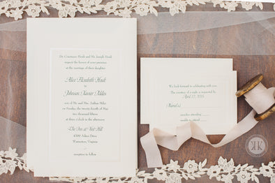 Elegant Dot Border Invitation