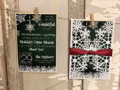 Snowflake Diecut Wedding Invitation
