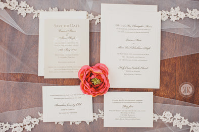 Simple Dimble Edge Border Invitation Suite