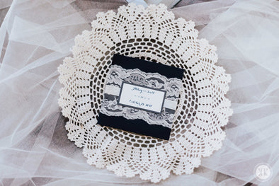 Ivory Lace Wrapped Invitation