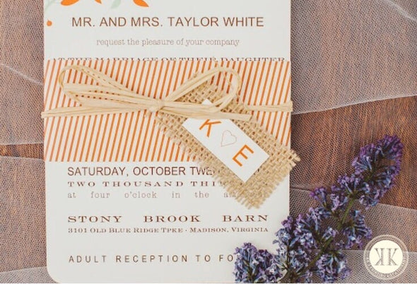 Country Vine Wedding Invitation