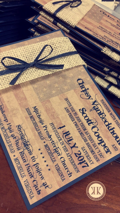 Americana Wedding Invitation