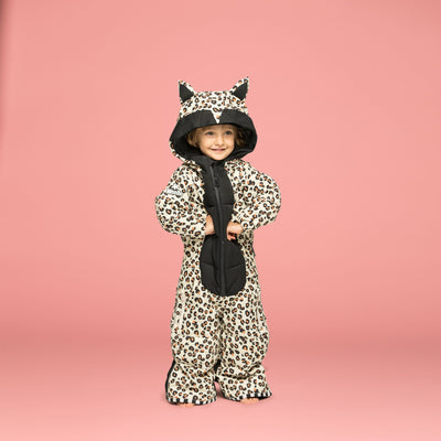 Wee Doo Leo Snowsuit & Mitts - Leopard - The Cardrona Online Store