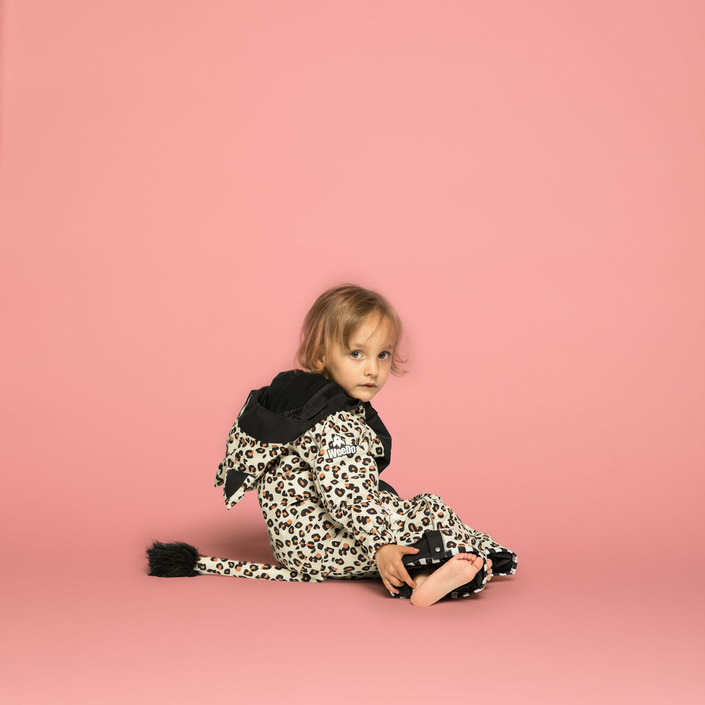 Wee Doo Leo Snowsuit & Mitts - Black