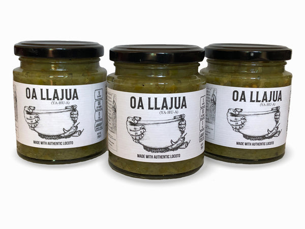 Llajua Verde | Bolivian Hot Sauce | 5 calories | 0g of Carbs | 8.8 Oz. 3 pack