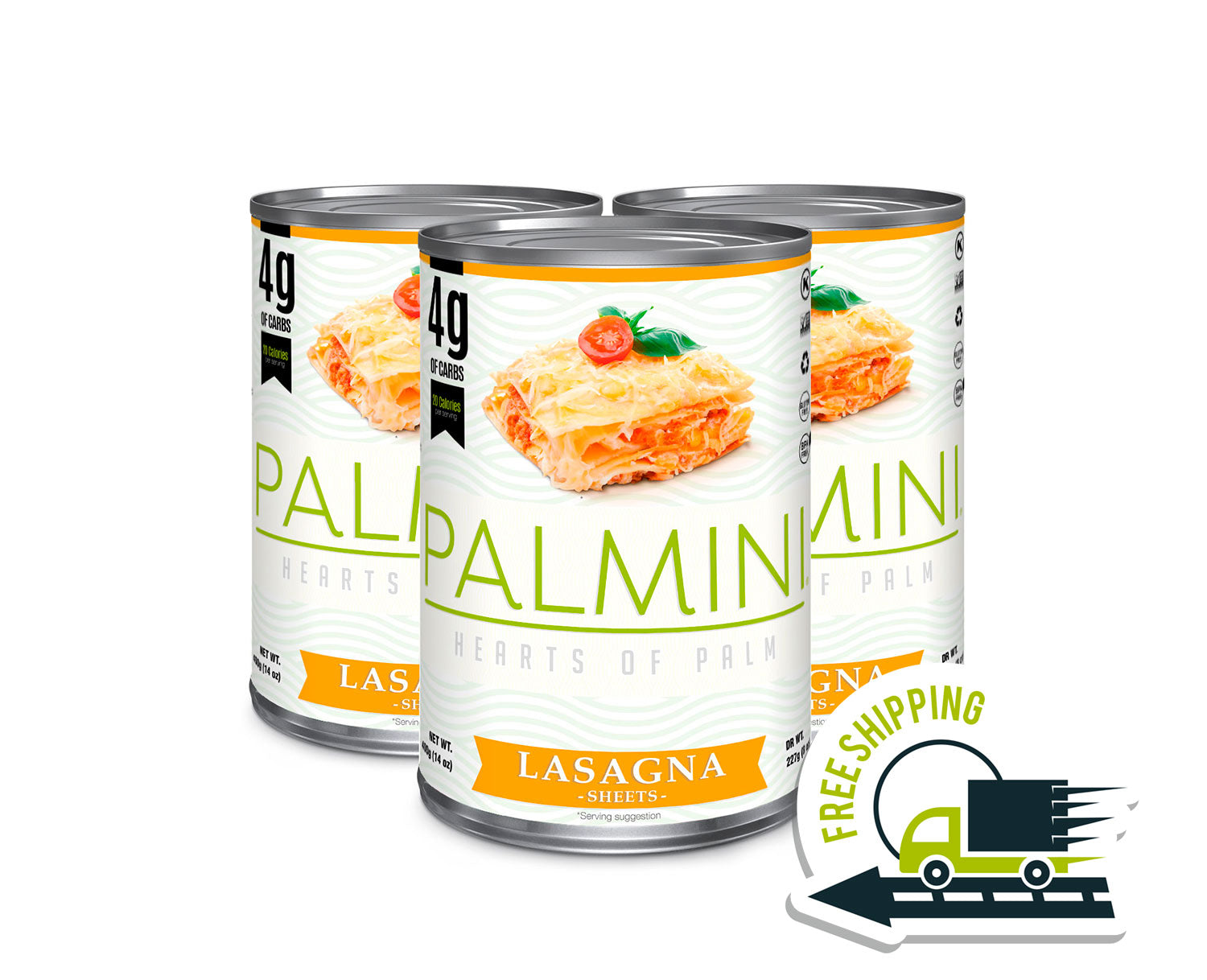 Palmini Lasagna | 3 Unit Case | 14 Oz. Net|