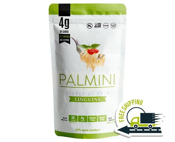 Palmini Linguine Low Carb Pasta | 4g of Carbs | As Seen On Shark Tank | 1 Unit Pouch 12 Oz.